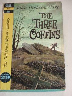 Vintage Paperback The Three Coffins by John by TreasureTroveBooks, $4.95