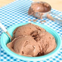 Creamy 5-Ingredient Chocolate Coconut Milk Ice Cream -- dairy-free and naturally sweetened