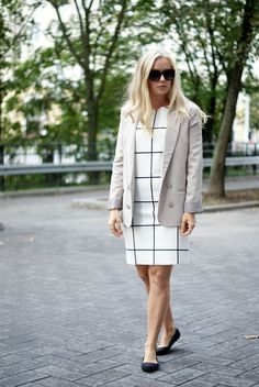 Office look / black & white & beige outfit