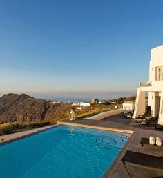 Enjoy cliff top ocean views in #Greece.