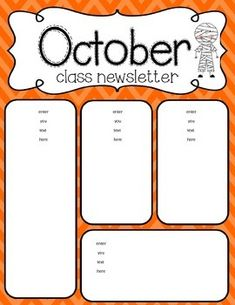 0bb5ce9ad6f0caabfa3bee74955dfceb--october-students Bee Monthly Newsletter Template on human resource, preschool printables, girl scout, free editable one page, for work, samples business,