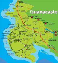 Maps of Guanacaste, Costa Rica
