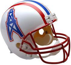 2153e7d9e Riddell Houston Oilers Throwback 1991-96 VSR4 Full-Size Replica Football  Helmet  FootballHelmet