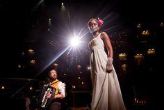 Photo 4 of 9 | Josh Groban as Pierre and Denée Benton as Natasha in Natasha, Pierre and the Great Comet of 1812. | Show Photos: Natasha, Pierre and the Great Comet of 1812 | Broadway.com