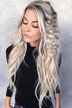 Hairstyle Blond hair & braid.