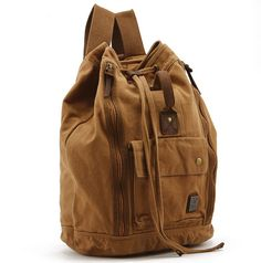 #men's bag #canvas bag  vintage canvas hiking travel military backpack messenger tote bag