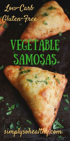 These Low-Carb Indian Vegetable Samosas are baked instead of fried. These recipe can be part of low-carb, gluten-free, ketogenic, diabetic, Atkins, and Banting diets.