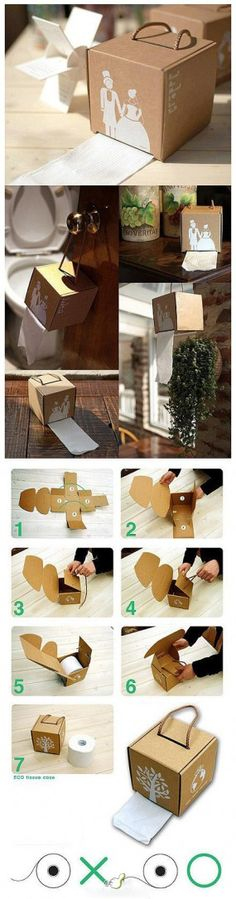 Surprise DIY -adapt to come out the top for tissues for the living room with fun design