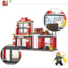 0225 Sluban City Fire Station Building Blocks Sets hobby DIY Model Toys Bricks Compatible with Lego Firefighter Minifigures  http://playertronics.com/product/0225-sluban-city-fire-station-building-blocks-sets-hobby-diy-model-toys-bricks-compatible-with-lego-firefighter-minifigures/