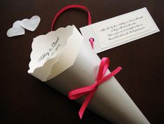 Wedding Toss/Favor Cone with Tag Ribbon in di YinVivoWeddings