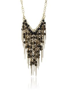 Joanna Laura Constantine Black/Gold Dangling Chain Link Necklace at MYHABIT