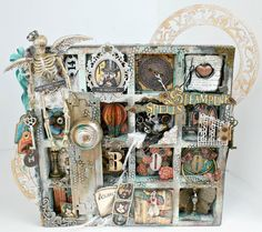 This altered printers tray by Miranda is truly a a work of art! Wow wow! #graphic45