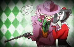 Wicked Jokes by ArtistAbe.deviantart.com on @deviantART. Joker and Harley Quinn in the pose of the Wicked poster.