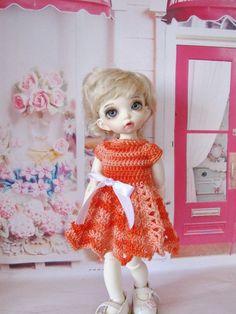 Hooked-up dress for 1/6 bjd fairyland LittleFee Bisou