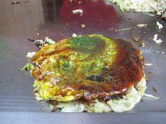 오노미치야끼(尾道焼き) 히로시마현 미요시에서 먹었는데 맛있었다
