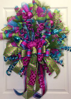 Christmas Mesh Wreath on Etsy, $139.00