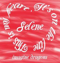 """Arte criada da música """"Selene"""", do Imagine Dragons!! :D"""