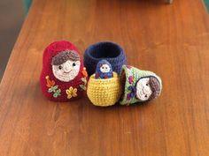 Crochet amigurumi nesting dolls are so cute. Crochet Dolls
