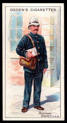 Cigarette Card - Australian Postman   by cigcardpix