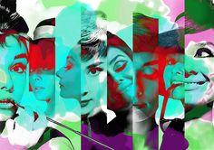 Audrey Hepburn Digital Art - Audrey Hepburn 1 by Diana Van Fine Art Prints, Framed Prints, Canvas Prints, Nostalgic Art, Audrey Hepburn, Unique Art, Fine Art America, Original Artwork, Digital Art