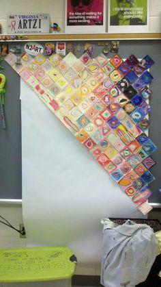 Logistics in the Art Room: Getting CLOSE in the Art Room! Chuck Close reproduction one square at a time Class Art Projects, Collaborative Art Projects, Group Projects, School Projects, Chuck Close, Elementary Art Rooms, Art Lessons Elementary, High School Art, Middle School Art