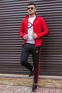 Cautare dupa: Trening Bumbac EX Rosu-Negru Slim, Style, Lab Coats, Swag, Outfits