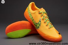 Wholesale Cheap Orange/Volt/Citrus Nike Elastico Finale II Indoor Boots Shoes Shop