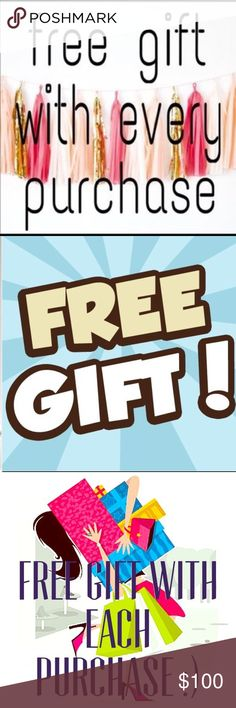 Free Gift 🎁 With Every Purchase ‼️💋⭐️🙏🏻🌹🔥❤️ Hi I'm Jamie your friend on Posh, let's face it we are all on here to make people 😊 HAPPY with the items we have to purchase. I love and appreciate each one of you who shop in my closet. NOTHING makes me happier than a happy buyer. So I include a gift almost any time I can! Now I figured why not let everyone know! And it's not just a lip gloss every time I like to give brand new items I currently have on sale too! It's my way of giving back…