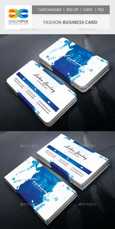 Fashion Business Card by -axnorpix Features : �20Adobe Photoshop CS4 version. �20Round /square corner possible. �20Easy to edit. �20Landscape Design.�20Optimized for prin