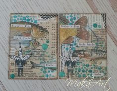ATC Set - Print 2  My journey through the Scrapbookworld...: *ATC Set - Hot news in deep water...*