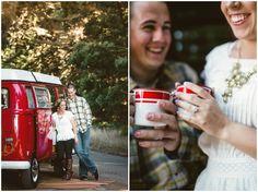 Cosy VW Camper Van Engagement Shoot