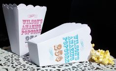30 Personalized Popcorn Boxes  Weddings Birthday by 6elmdesigns, $45.00