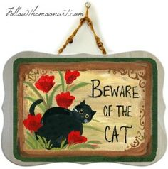 beware of cat craft project