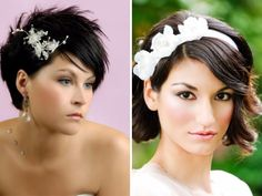 Short & straight for your exquisite dark hair - Popular Straight Hairstyles for Your Wedding - EverAfterGuide