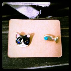 Spotted while shopping on Poshmark: Cat and Fish Earrings! #poshmark #fashion #shopping #style #Jewelry