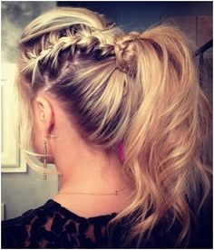 Messy Braid, Ponytail Hairstyles Trends