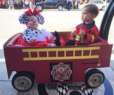#halloween #costumeideas #siblingcostumes #fireman #dalmation #firetruck