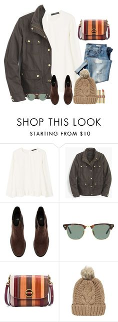 """""""You can never be overdressed or over educated"""" by preppygirlusa ❤ liked on Polyvore featuring MANGO, Gap, J.Crew, H&M, Ray-Ban, Tory Burch, Chicnova Fashion and Yves Saint Laurent"""