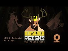 Sit on the throne as a benevolent (or malevolent) medieval monarch of the modern age Reigns com.reigns Sit on the throne a. Video Game Trailer, Video Game Art, Old Games, News Games, Medieval, Cinematic Trailer, Lets Play, Indie Games, Elder Scrolls