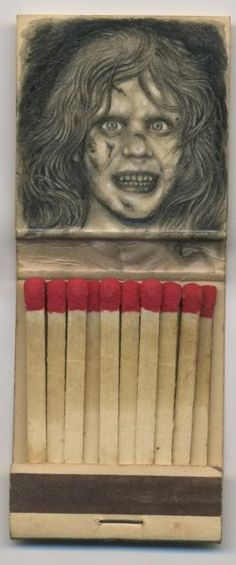 Matchbook art - The Exorcist - Gallery1988 Crazy 4 Cult 3D