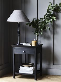 Aldwych side table, Fitzroy lamp with Oliver shade, Blyton candle in Mustard #AW16 #SideTables #Lamp