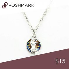 Shimmery Holographic Mermaid Necklace Zinc Alloy Chain  23.5