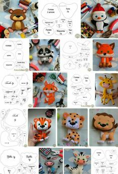 Toys made of felt. Schemes and patterns of felt . - Toys made of felt. Schemes and patterns of felt …, # patterns # toys - Felt Animal Patterns, Felt Crafts Patterns, Felt Crafts Diy, Felt Diy, Stuffed Animal Patterns, Felt Patterns Free, Sewing Toys, Sewing Crafts, Sewing Projects