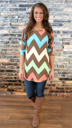 The Pink Lily Boutique - Color Me Fabulous Tunic, $36.00 (http://thepinklilyboutique.com/color-me-fabulous-tunic/)