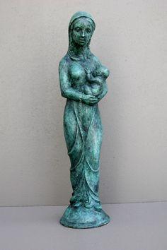 AUDFRAY Etienne, sculpture en bronze - Vierge allaitante (La) - I/IV - 1991