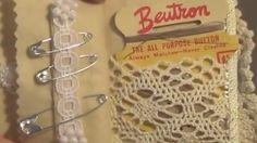 Vintage needle book, video tutorial