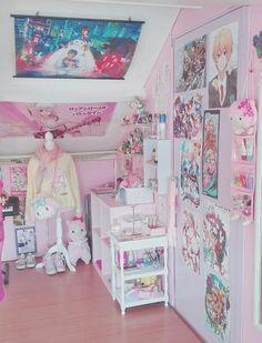 Kawaii Room Decor 9 is part of Pastel room - Kawaii Room Decor 9 Pastel Room Decor, Cute Room Decor, Room Ideas Bedroom, Bedroom Decor, Kawaii Bedroom, Cute Room Ideas, Game Room Design, Gamer Room, Decorating Rooms