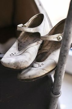 Pretty old white shoes