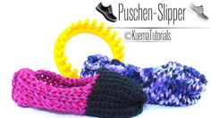 Knitting Loom,Strickring,Puschen,Slipper,Hausschuhe, Anleitung,Tutorial,