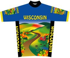 """""""Wisconsin Bike Jersey - Coming Soon !""""...Here is the latest """"proof"""" for the up and coming Wisconsin bike jersey by Free Spirit Wear. This will be available for backorder very soon. Use coupon Code: SAVE10 and save $10 on your next order. FREE Shipping! #FreeSpiritWear #WisconsinBikeJersey    http://freespiritwear.com/blog/?p=1487"""